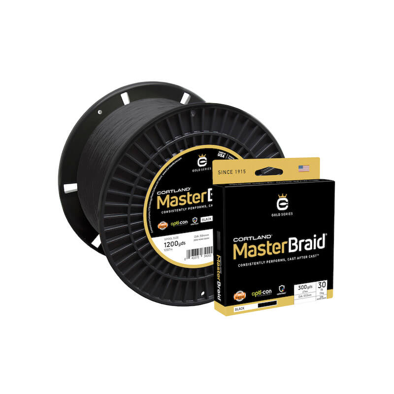 Cortland Master Braid Black 1200 Yds
