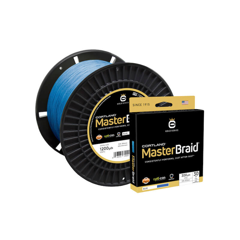Cortland Master Braid Blue 1500 Yds