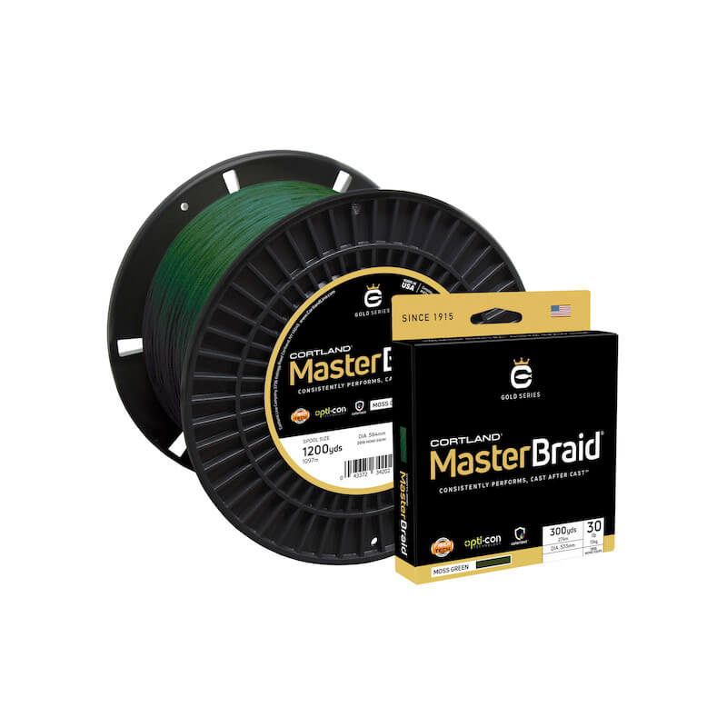 Cortland Master Braid Moss Green 150 Yds