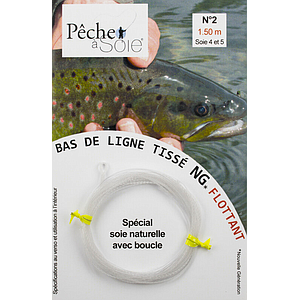 Pêche à Soie Braided Leader with Loop NG 1,5m Line 4/5