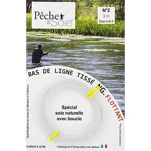 Pêche à Soie Braided Leader with Loop NG 3,0m Line 4/5