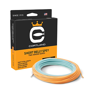 Cortland Two-Handed Short Belly Spey Light Blue / Bright Orange 100 Ft