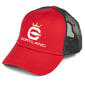 Cortland Logo Trucker Hat Red