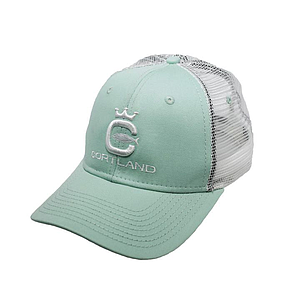 Cortland Logo Trucker Hat Cool Mint