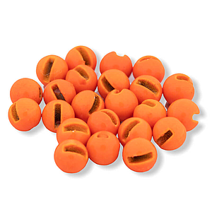 Tungsten Bead Slotted Fl Orange [20]
