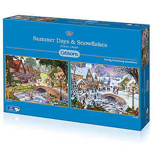 Gibson Puzzle Summer Days & Snowflakes