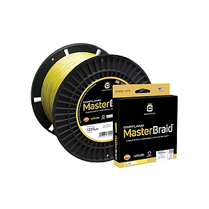 Cortland Master Braid Yellow 1200 Yds